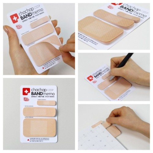 thisfuturemd:  Band-Aid Post-It Notes. Tell me this isn't the least bit cool. It's also around $3.00 on eBay.
