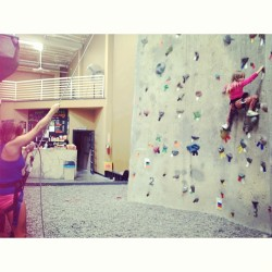 Bonding  (at Solid Rock Climbing Gym)