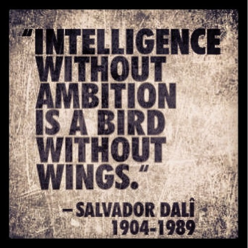 texwillerlouis:  #quote #Intelligence #ambition #SalvadorDali