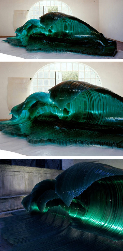 booooooom:  Glass  sculpture by Mario Ceroli.