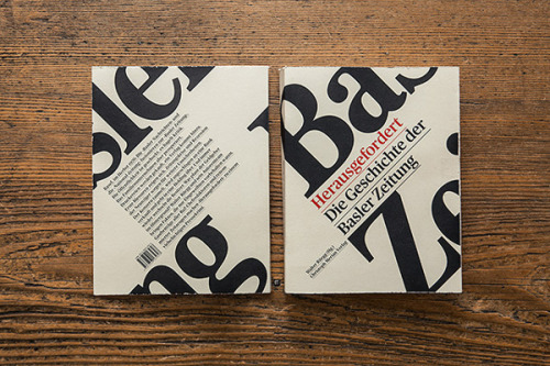 Herausgefordert. Book Design A book about the turbulent history of the Basler Zeitung (Basel's biggest newspaper). Book design by Andreas Hidber / accent graphe. More of the design on WE AND THE COLORWATC//Facebook//Twitter//Google+//Pinterest