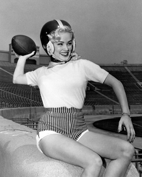 theniftyfifties:  Mamie Van Doren  sport girl is so attractive