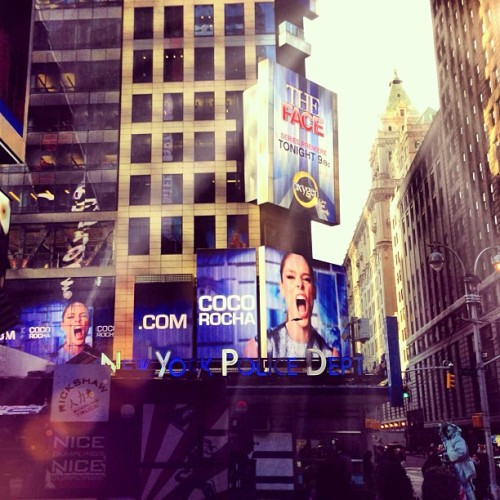 Times Square, New York. #TheFace