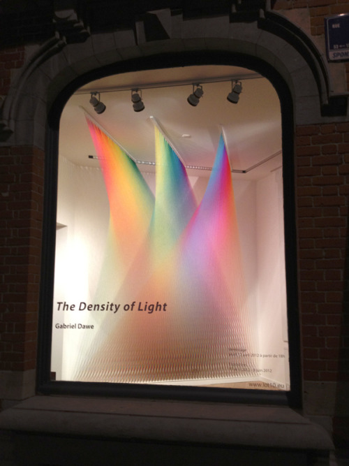 rainblowg:  Another amazing installation by Gabriel Dawe