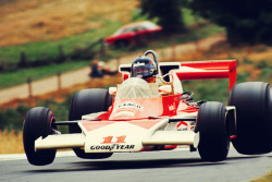 fuckyeah-grandprix:  James Hunt, Mclaren, Nürburgring, German Grand Prix 1976.