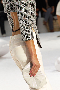floraspice:  clutch detail at Chanel Spring/Summer 2012 | Paris Fashion Week
