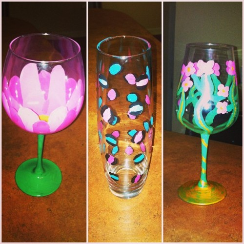 Wine glasses I made today #diy