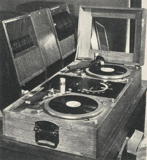 luvhugsandhiphopsoul:  Turntables in 1929.