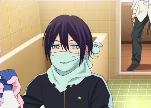 noragami yato s01e02 bathroom cleaning shine