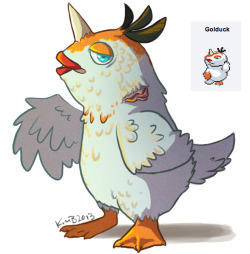 gogglesaurus:  I said I was drawing a Golduck so I drew a Golduck.