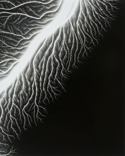 "Hiroshi Sugimoto- Lightning Fields, 128- 2009 On view currently at the Transformation Center in Cleveland, so if you're in the area, check out their exhibition, ""Light of Day."""