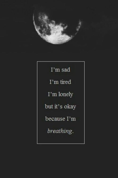unknown-tamara:  it's okay because i'm still breathing. on We Heart It.