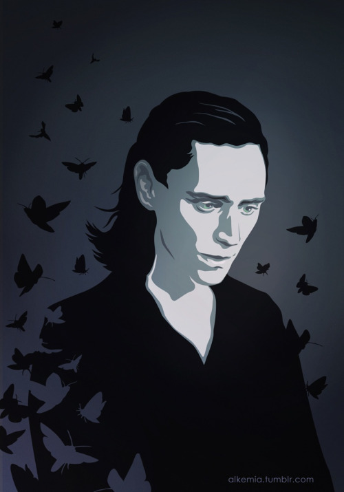 "evil-scientist:  Another fanart for Hella's ""Of the Record"". And it's Loki, again…"