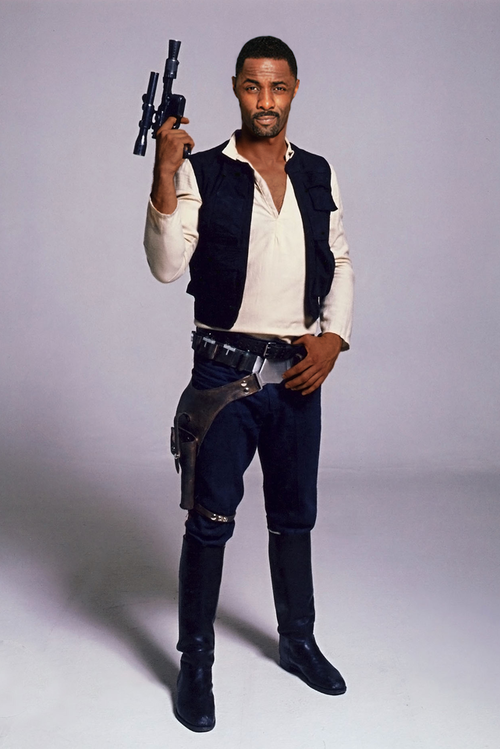 warpsbyherself:  circusbones:  superpunch2:  Idris Elba as Han Solo.  Yes.  Additionally, HELL YES.