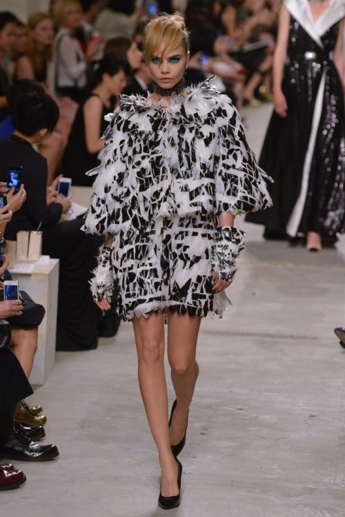 Cara Delevingne on the runway for Chanel, Cruise 2014