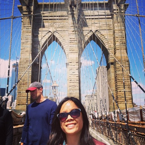 Back here #libznyc  (at Brooklyn Bridge)
