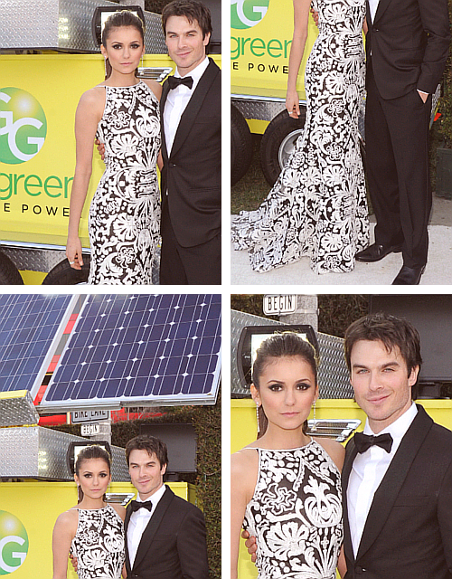 Ian x Nina - 21st Annual Elton John AIDS Foundation Academy Awards