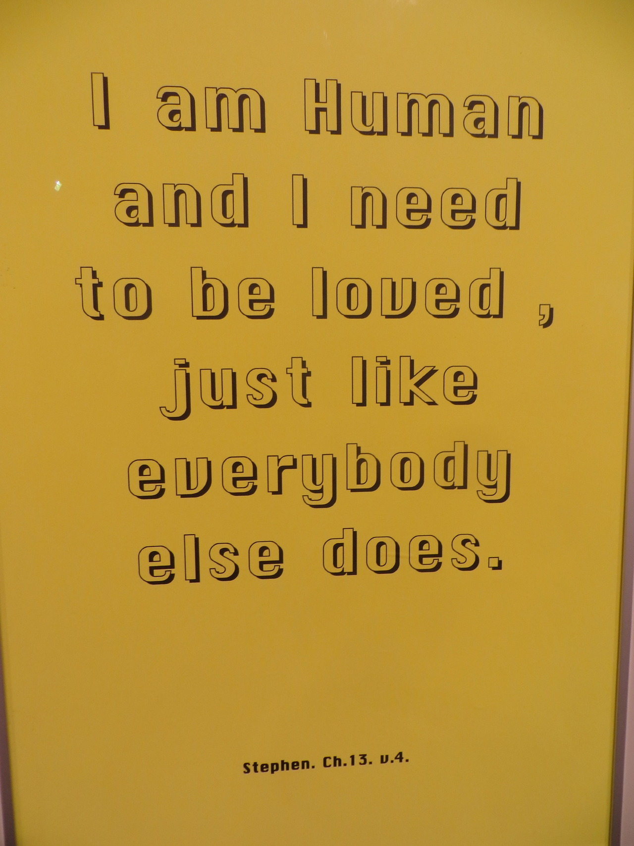 poplipps:  I am Human…  Human need to be loved