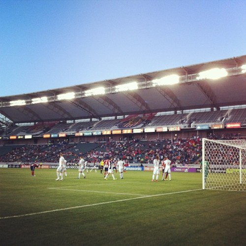Shooting field side @chivasusa vs Real Salt Lake. (at The Home Depot Center)