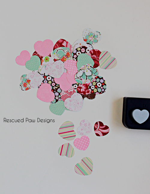 Paper & Wood Heart Decoration
