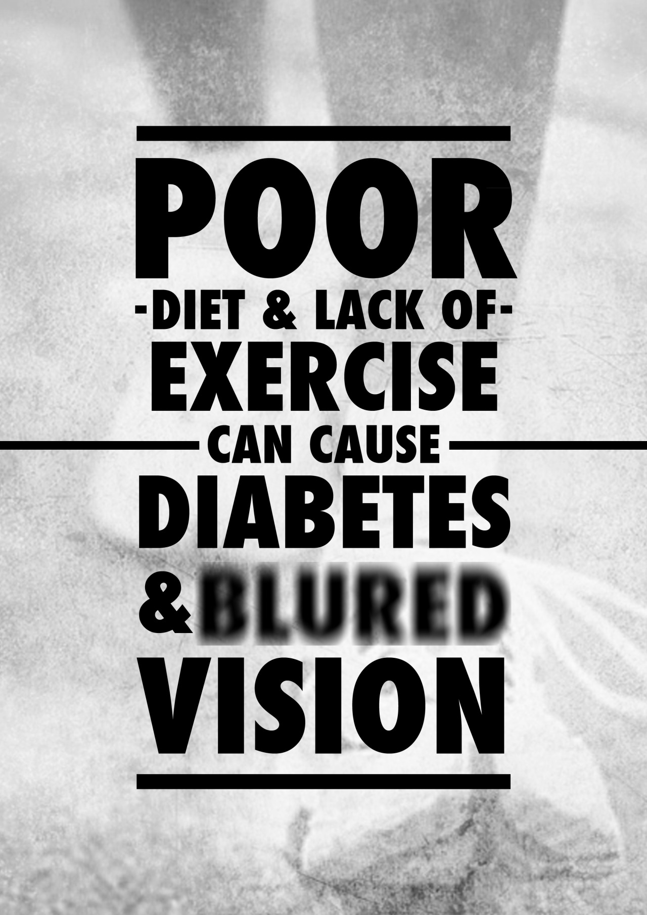 betype:  poor diet and lack of exercise - diabetes poster - health project   Get inspired on Betype.co