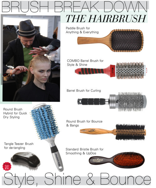 BRUSH BREAK DOWN: The Hairbrush by cutandpaste featuring a nylon brush