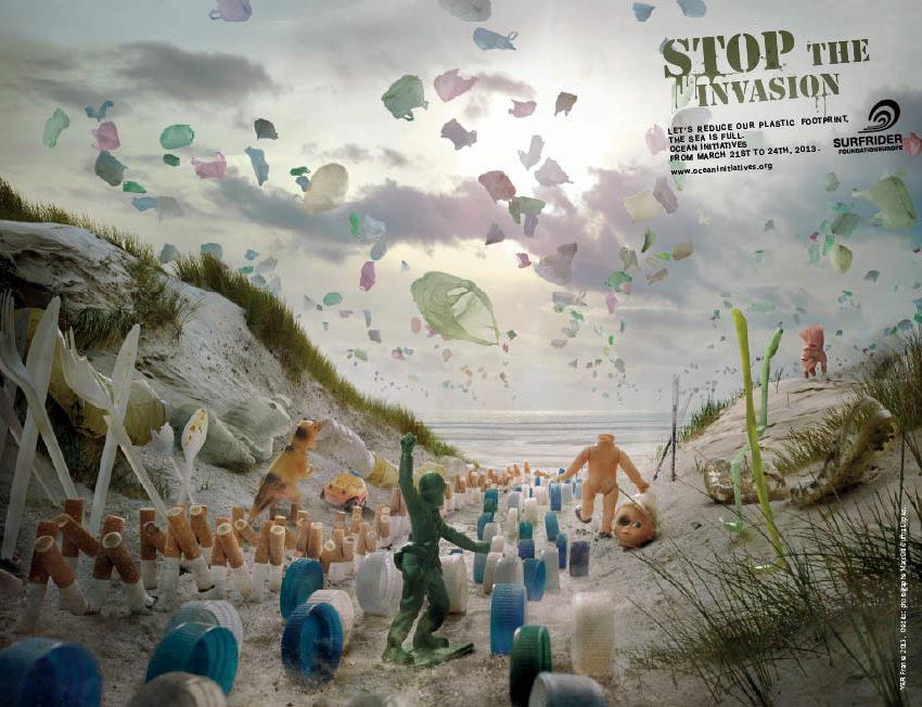 STOP THE INVASION!  Surfrider Foundation Europe has an awesome campaign for 2013. Stop the plastic invasion. The scene reminds me of Normandy, or Dunkirk, or some other significant event on a beach during WW2. We are beyond lucky to not have to bear witness to a war like that, but we do have a war against plastic on all our doorsteps.  Normally, I don't like to use terminology like 'war' and 'invasion'. In the case of plastic, I'll make an exception. The havoc being wrecked on the very ecosystem services we rely on is extensive and unnecessary. We do not need so much plastic, and it's so easy to throw a cigarette butt in a bin. Fortunately it's also easy to take part in a clean up.  To my European followers - there's a handy section of the website listing the when and where of all the coastal cleanups! Check it out.  Of course, you don't need an event. Take some friends to the beach, bring music and beer (if you are allowed) and compete for how much rubbish you can collect.