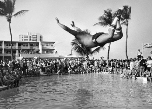 oldflorida:  Your dad is doing a belly flop at the Playpen. Spring Break, 1984.