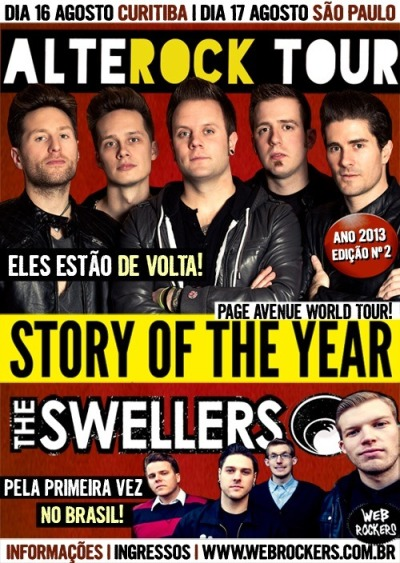 In August we are coming to BRAZIL with Story Of The Year!