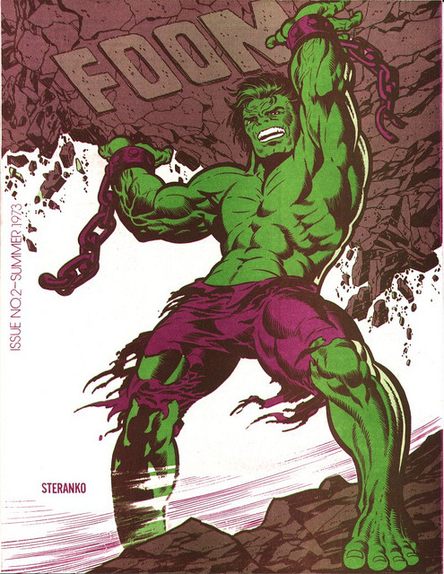 FOOM #2 (1973) Steranko's rendering of The Hulk