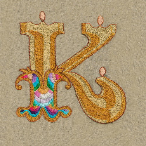 twentysixtypes:  Embroidered K. By Kyle J. Letendre