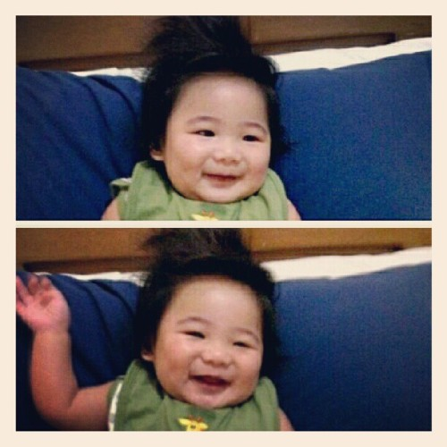 My munchkin Ian is such a happy baby. Soooo adorable! I miss him much ;)