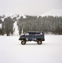 van-life:  Model: Nick Dirks' Chevy 4X4 Van Location: Mt. Bachelor, OR Photo: Foster Huntington