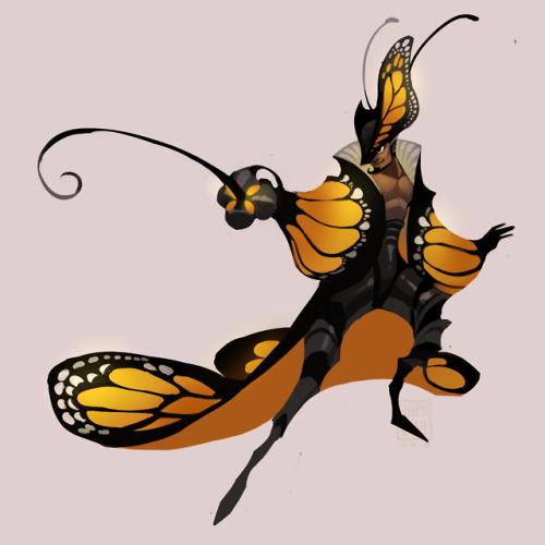 japhers:  Monarch Musketeer!  Consider me smitten #monarch butterfly#fae#musketeer#fairy#fantasy #not my art #japhers