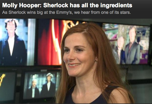 """mysharona1987:  Love that Louise is just known as """"Molly Hooper"""" now."""