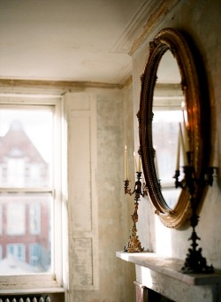 ysvoice:  | ♕ |  Antique mirror - London Bridal  | via dustjacketattic