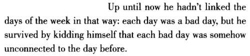 aseaofquotes:  Nick Hornby, About a Boy