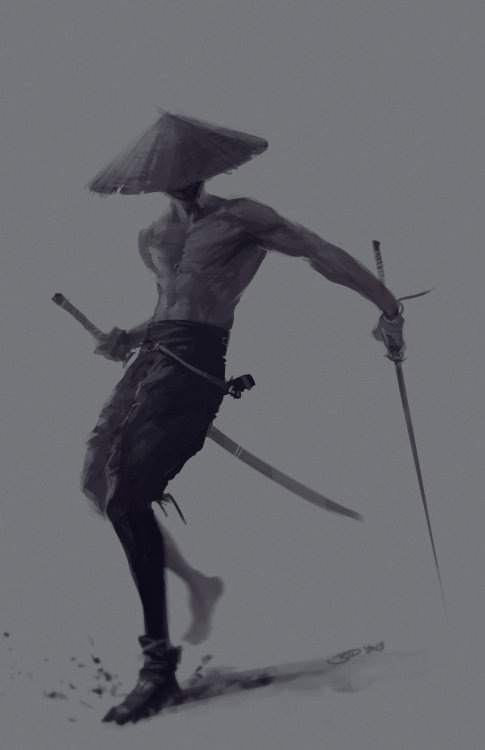 separatethisbodyfromymind:  Samurai with the swords by *SID75
