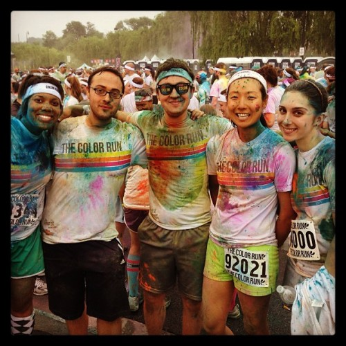 Huzzah! @TheColorRun #Happiest5k #colorrun #rainbow