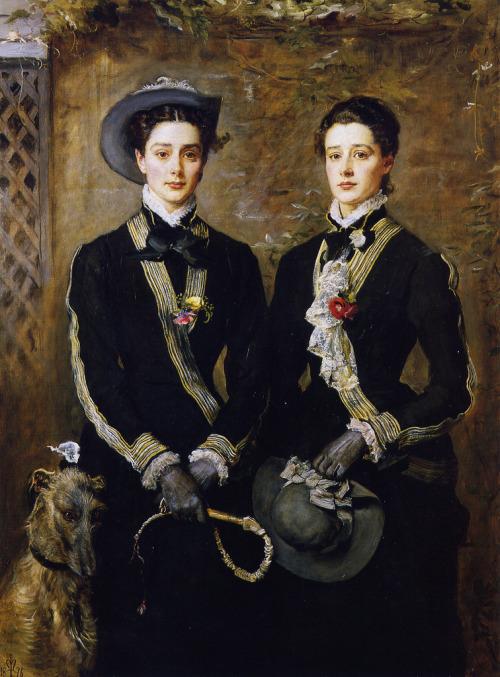 (via John Everett Millais - The Twins, Kate and Grace Hoare [1876]   Gandalf's Gallery)