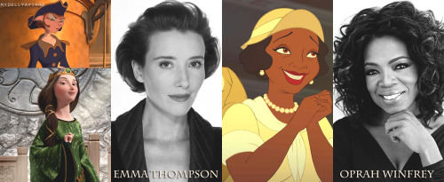 goddamnyourebeautiful:  Disney supporting actors/actresses & their voice actors/actresses