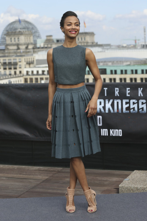 Zoe Saldana @ the Star Trek Into Darkness Photocall in Berlin