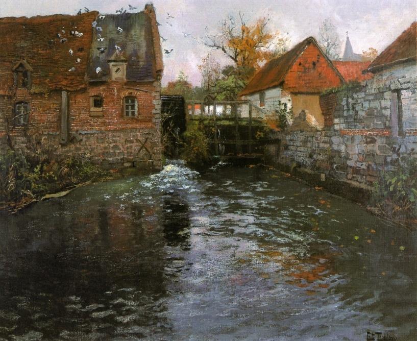"vuillar:  ""The Mill"" (c.1895), Frits Thaulow (1847 - 1906)"