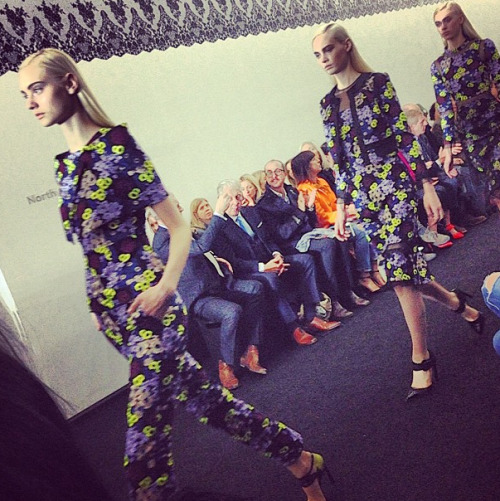 Dark florals for a gorgeous show at Erdem.  Photographed by Andrew Bevan