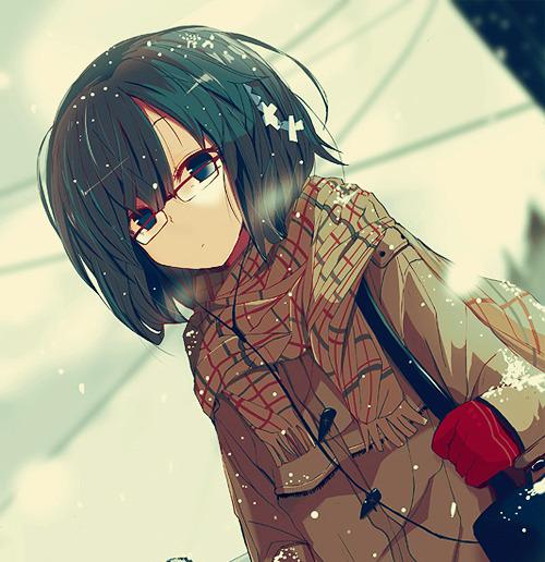 Anime girl Kawaii Anime glasses