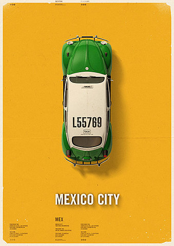 (via FFFFOUND! | City Cab Poster by Mehmet Gozetlik | TrendLand -> Fashion Blog & Trend Magazine)