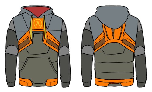 I designed a Half-Life hoodie that I really want.