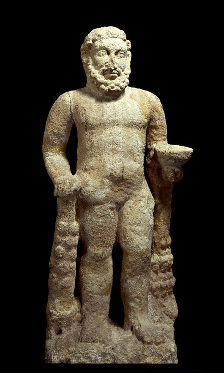 Stone statue of Hercules  Parthian Period 1st - 2nd century AD  Source: Tokyo National Museum