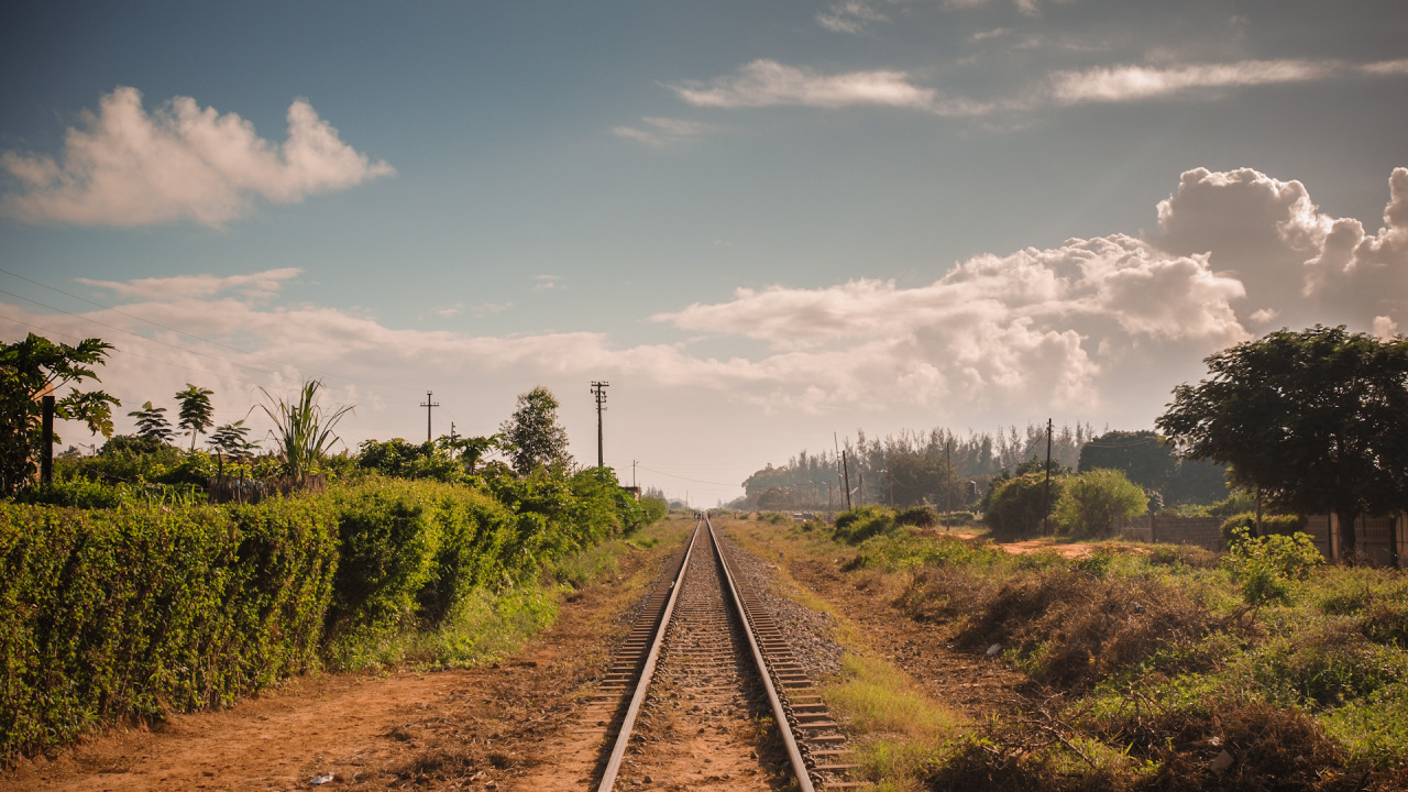 Railroad Track in Mahotas, Maputo, Mozambique