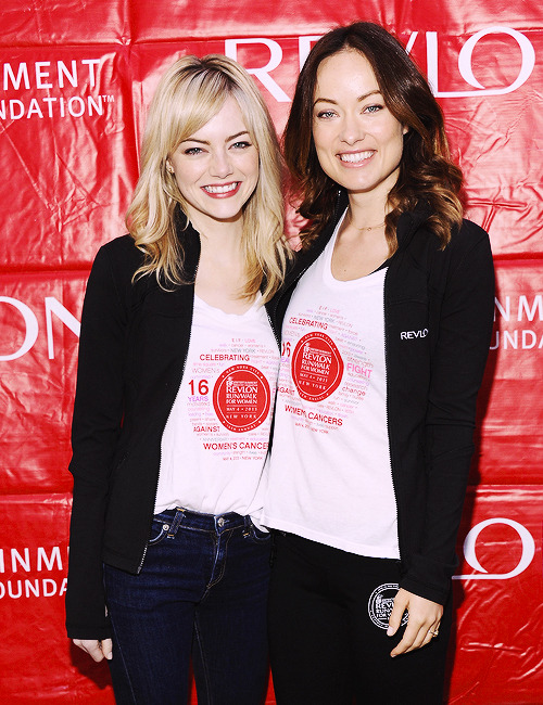 Emma Stone & Olivia Wilde | 16th Annual EIF Revlon Run Walk For Women [May 4, 2013]